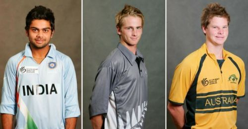 Virat Kohli, Kane Williamson, and Steve Smith during the 2008 U-19 World Cup Enter caption Trent Boult - ICC U/19 Cricket World Cup - Official Team Photocalls