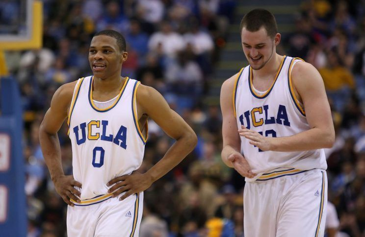 Russell Westbrook and Kevin Love during their time together at UCLA (Picture Credit - Yahoo)