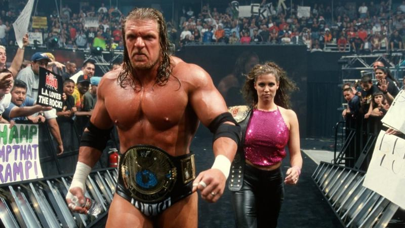 Triple H and Stephanie McMahon were a power couple on-screen, before marrying for real in 2003.