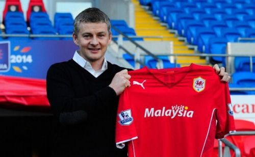 Ole Gunnar Solskjaer was appointed Cardiff City boss in 2014