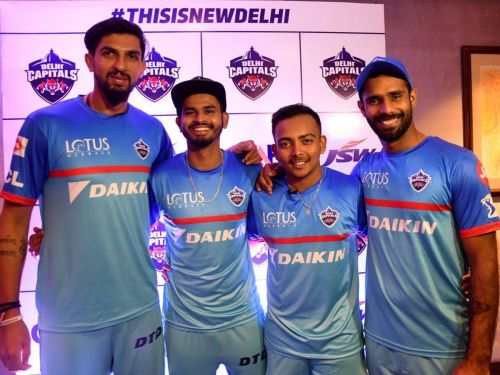 Prithvi Shaw (3rd from left)