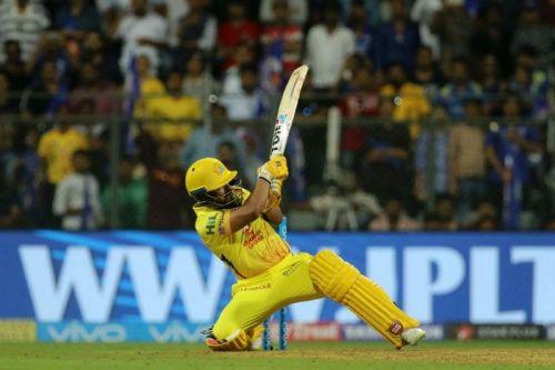Kedar Jadhav hits the winning six