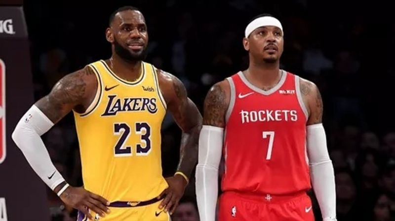 04161928b844 Carmelo Anthony has been linked to the Lakers and his buddy LeBron since he  was exiled