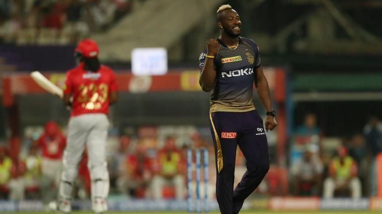 Russell put up a stellar all-round display to help KKR register a resounding victory.