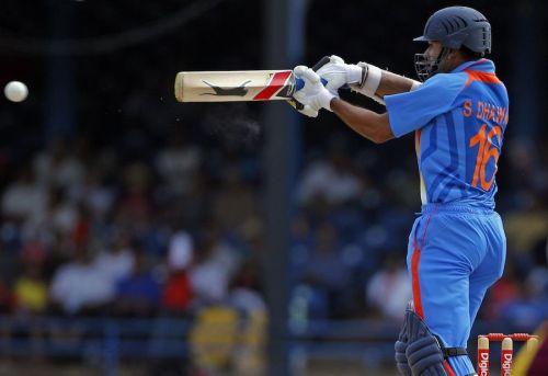Shikhar Dhawan in his 3rd ODI match.