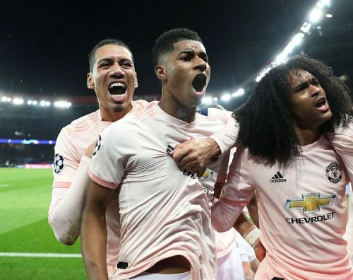 Manchester United made a comeback against PSG to qualify for the quarterfinal