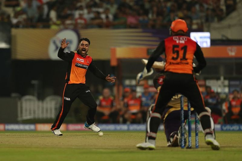 Rashid Khan is a mainstay in this SRH bowling attack. (Image Courtesy: IPLT20)