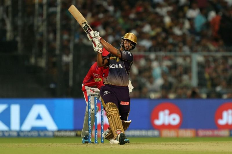 Nitish Rana struck another 50+ score to take KKR to a commendable position (Image courtesy: IPLT20/BCCI)