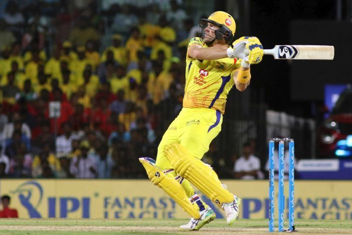 चेन्नई सुपर किंग्स के सलामी बल्लेबाज़ शेन वॉटसन