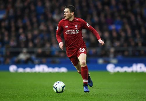 Robertson could play his 50th League for Liverpool on Sunday