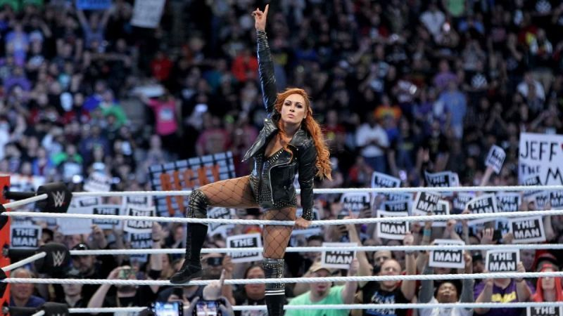 Will Becky become the first woman ever to win a WrestleMania main event?