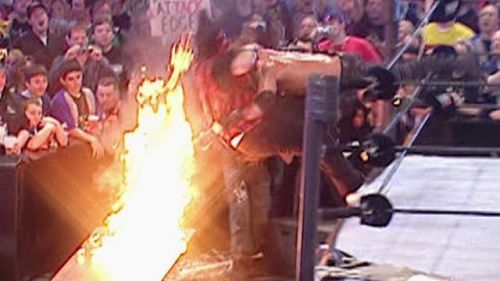 Edge spearing Mick Foley through a flaming table helped launch his whole career forward.