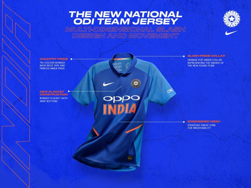 68c80a831b4 Team India s 2019 ODI kit celebrates India s bold new generation