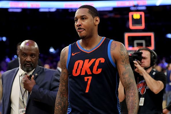 competitive price c1b6a fa826 Remembering Carmelo Anthony's 3 best games for the Oklahoma ...
