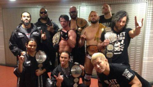 The Bullet Club under the guidance of AJ Styles