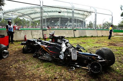 This was what was left of Alonso's McLaren after the crash.