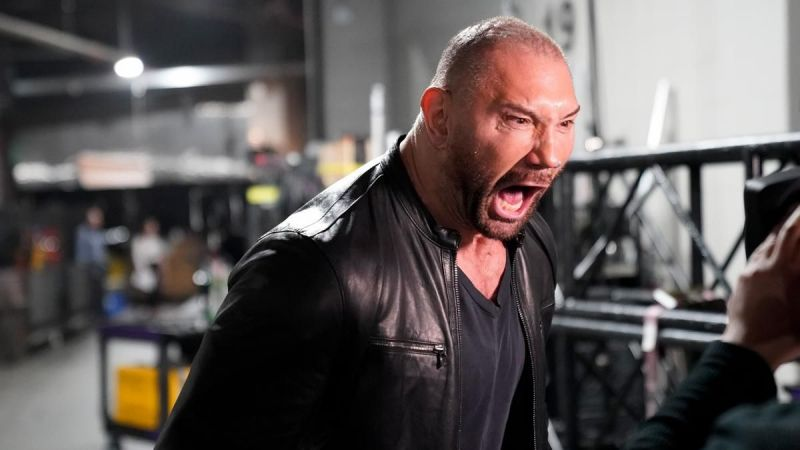 Batista on Raw as he attacked Ric Flair