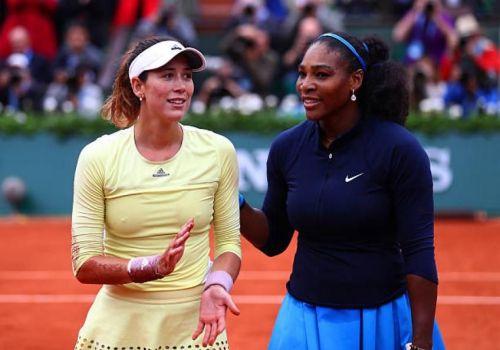 Serena Williams and Garbine Muguruza at th2016 French Open Final