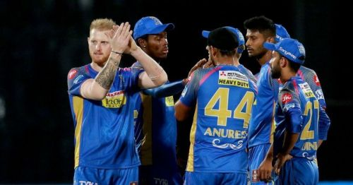 Rajasthan Royals in action
