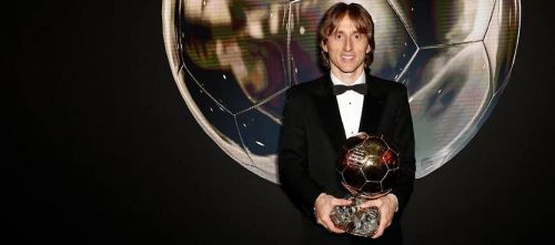 Luka Modric with Ballon d'Or.