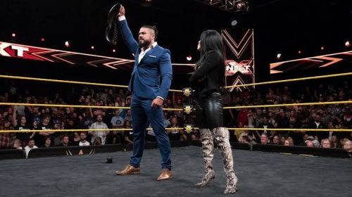 Andrade as the NXT Champion