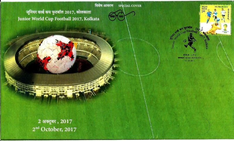 SPECIAL COVER RELEASED IN KOLKATA ON 2017 FIFA U-17 WORLD CUP