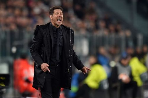 Simeone was given a monetary fine for making a similar gesture in the first leg
