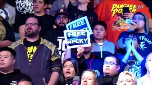 Becky Lynch's fans have been quite vocal in their support, such as these