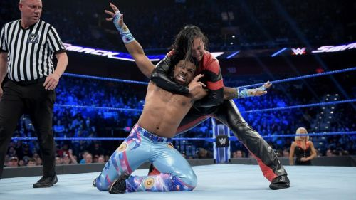 Nakamura during the Tag Team Gauntlet match