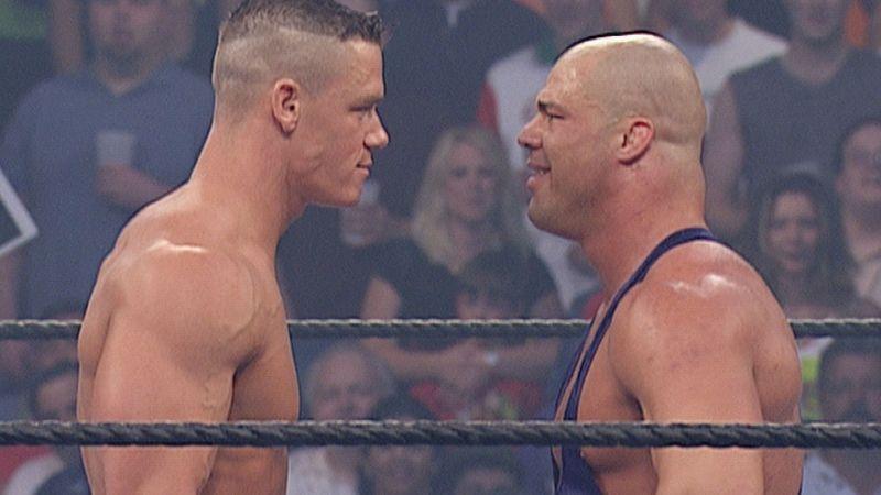 Cena kick-started his WWE career against Kurt Angle!