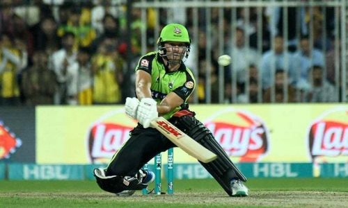 Post his retirement, AB has found warmth under the financial security offered by domestic T20 leagues. Here, he plays an unorthodox reverse scoop, taking his PSL team Lahore Qalandars to victory