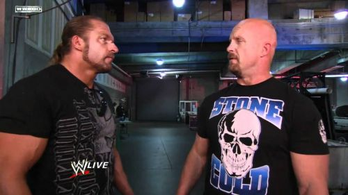 Triple H with Stone Cold Steve Austin