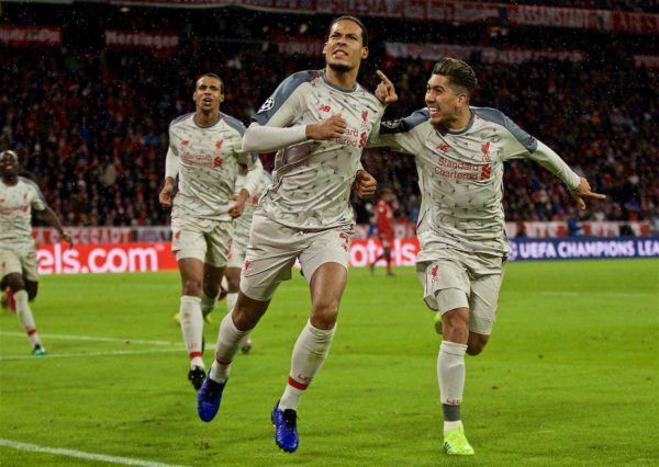 Liverpool knocked Bayern Munich out of Champions League to make it into the last 8