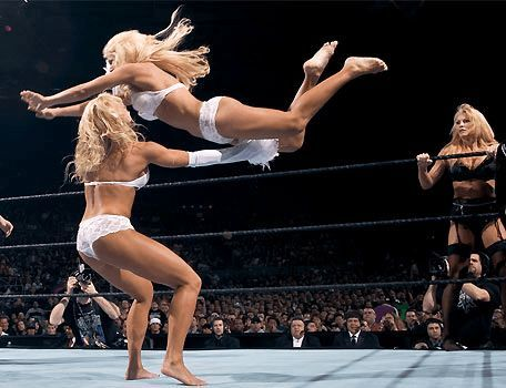 Women's wrestling has come a long way since these matches.