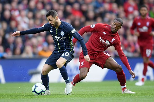 Move over Salah and Aguero, Bernardo Silva (left) and Gini Wijnaldum (right) have been the most important players for City and Liverpool this season.