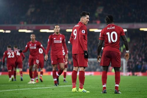 Liverpool's front three will look to get on the scoresheet