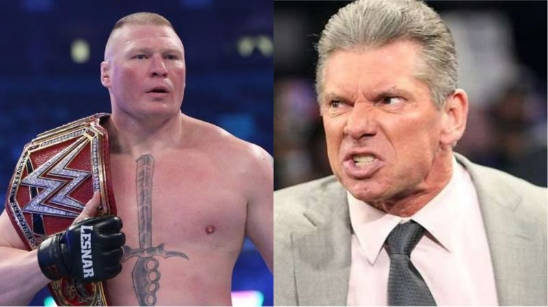 The Boss and Brock Lesnar got into a frenzy after WrestleMania 34 in 2018.