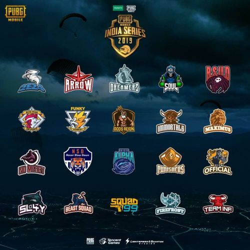 20 finalists of PUBG Mobile India series