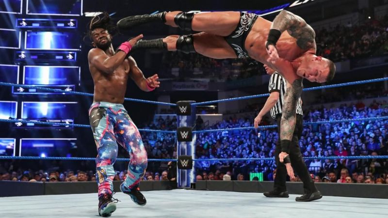 Kofi Kingston in action during the Gauntlet match
