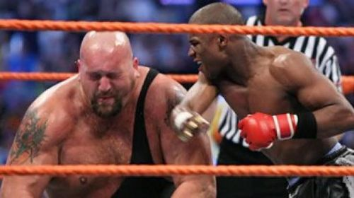 Mayweather trying to knock Big Show down!