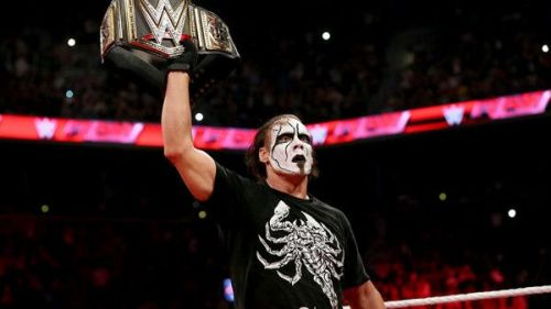 Sting did not win any title in the WWE during his brief run
