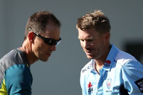 Warner returns to cricket with a century.