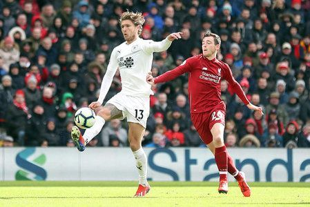 Hendrick struggled to impose himself in midfield against an unpredictable Liverpool side