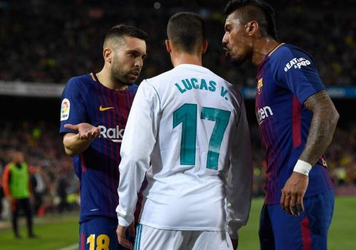 Jordi Alba spoke about Real Madrid following the win against Lyon at the Camp Nou.