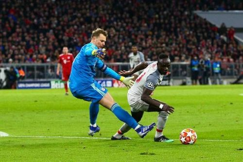 Away in a flash: Sadio Mane took the game away from the Bavarians in their Munich fortress