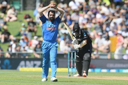 Shami during the New Zealand series