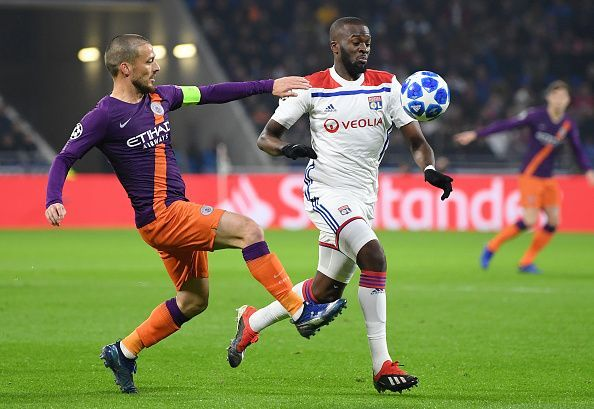 Ndombele in action against Manchester City