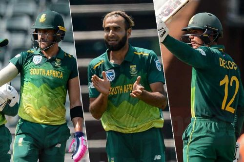 The South African trio of Faf du Plessis, Imran Tahir and De Kock performed well in the first match.