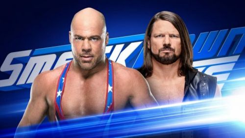 kurt angle and aj styles will go one on one in this week's smackdown