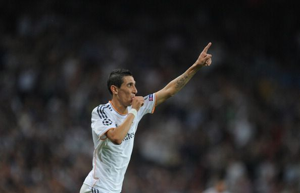 Di Maria during his Real Madrid days